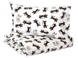 """Siuvama patalynė vaikams """"Kačiukai"""" (95x135 cm, 35x55 cm, paklodė su guma 60x120 cm)"""
