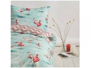 """Siuvama Premium satino patalynė """"Flamingos"""""""