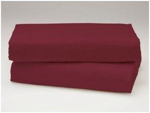 Siuvama vaikiška medvilnės paklodė su guma (vyšninė)