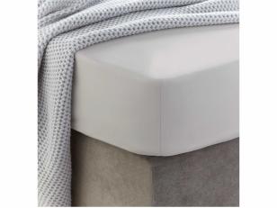 Siuvama vaikiška medvilnės paklodė su guma (White sand)
