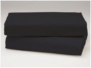 Siuvama vaikiška medvilnės paklodė su guma (juoda)