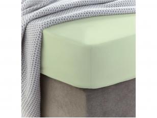 Siuvama vaikiška medvilnės paklodė su guma (Lime cream)
