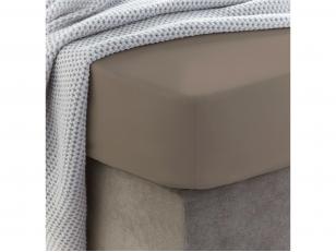 Siuvama vaikiška medvilnės paklodė su guma (Taupe gray)