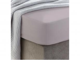 Siuvama vaikiška medvilnės paklodė su guma (Cloud gray)