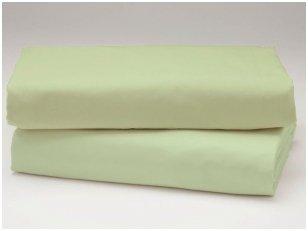 Siuvama vaikiška medvilnės paklodė su guma (žalsva)