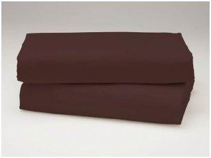 Siuvama vaikiška medvilnės paklodė su guma (ruda)