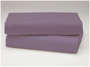 Siuvama vaikiška medvilnės paklodė su guma (purpurinė)