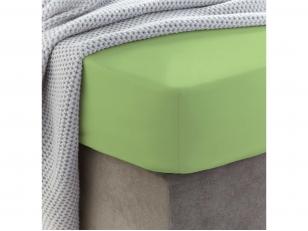 Siuvama vaikiška medvilnės paklodė su guma (Jade lime)