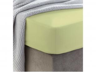 Siuvama vaikiška medvilnės paklodė su guma (Mellow green)