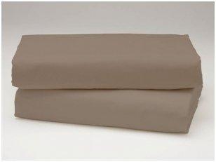 Siuvama vaikiška medvilnės paklodė su guma (vidutiniškai ruda)