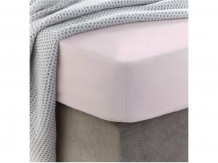Siuvama vaikiška medvilnės paklodė su guma (Heavenly pink)