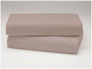 Siuvama vaikiška medvilnės paklodė su guma (rudai pilksva)