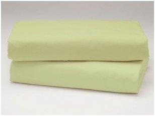Siuvama vaikiška medvilnės paklodė su guma (gaivi žalia)
