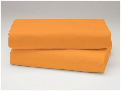 Siuvama vaikiška medvilnės paklodė su guma (apelsininė)