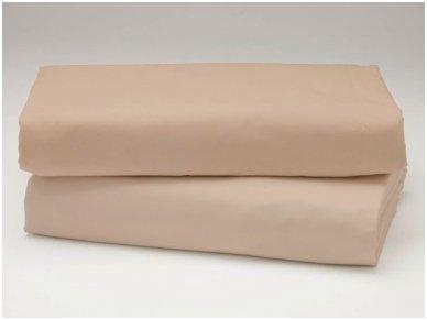 Siuvama vaikiška medvilnės paklodė su guma (bežinė)