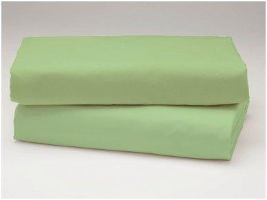 Siuvama vaikiška medvilnės paklodė su guma (žalia)