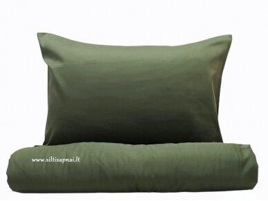 """Siuvamas satino patalynės komplektas """"DISCOVERY"""" (moss green)"""