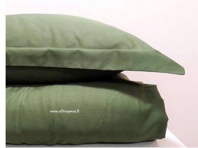 """Siuvamas satino patalynės komplektas """"DISCOVERY"""" (moss green) 2"""