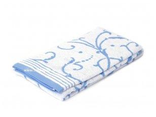 """Šukuotinės medvilnės rankšluostis """"Canaletto"""" (blue)"""