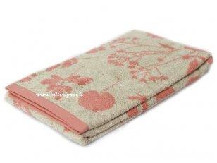 """Lininis rankšluostis """"Botanic"""" (pink)"""