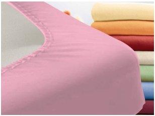 """Trikotažinė paklodė su guma """"Night"""" (rožinė)"""