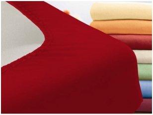 """Trikotažinė paklodė su guma """"Night"""" (raudona)"""