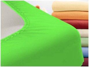 """Trikotažinė paklodė su guma """"Night"""" (žalia)"""