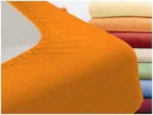 """Trikotažinė paklodė su guma """"Night"""" (apelsininė)"""