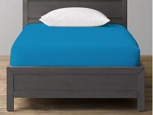 Trikotažinė paklodė su guma Medium Blue