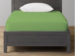 Trikotažinė paklodė su guma Žalia (120x200 cm)