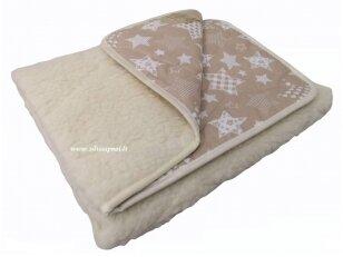 """Vaikiška avių vilnos antklodė """"VERONA"""" (žvaigždės)"""