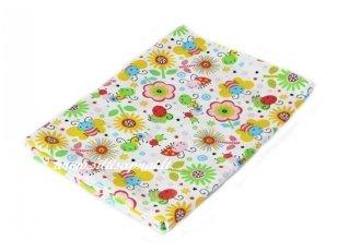 """Vaikiška medvilninė paklodė su guma """"Žaisminga pieva"""""""