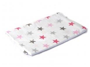 """Vaikiška medvilninė paklodė su guma """"Romantiškos žvaigždės"""""""