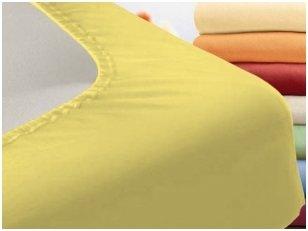 """Vaikiška trikotažinė paklodė """"Night"""" (geltona) 60x120 cm"""