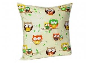 """Vaikiška pagalvėlė su pagalvės užvalkalu """"Pelėdžiukai""""  (45x45 cm)"""