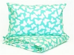 "Medvilninis pagalvės užvalkalas ""Drugeliai"" (40x60 cm, 70x70 cm)"