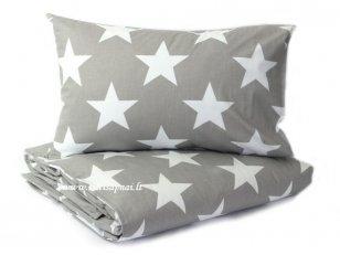 """Vaikiškas medvilninis pagalvės užvalkalas """"Didelės žvaigždės"""" (40x60 cm - 2 vnt)"""