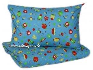 """Vaikiškas medvilninis pagalvės užvalkalas """"Kosmosas"""" ( 50x70 cm)"""
