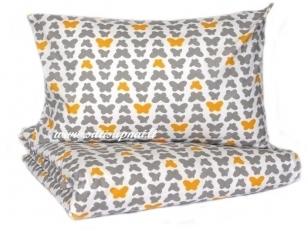 """Vaikiškas medvilninis pagalvės užvalkalas """"Žavūs drugeliai"""" (40x60 cm)"""