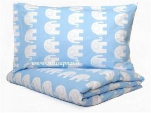 """Vaikiškas medvilninis pagalvės užvalkalas """"Drambliukai"""" (40x60 cm)"""