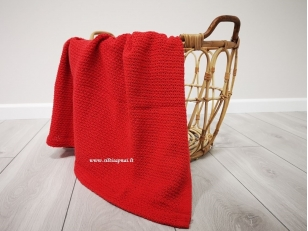 """Vaikiškas medvilninis pledas į vežimėlį """"Žaismas""""  (raudonas) 75x100 cm"""