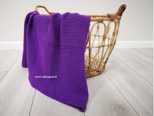 """Vaikiškas medvilninis pledas į vežimėlį """"Žaismas""""  (violetinis) 75x100 cm"""