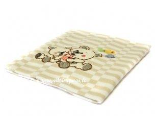 """Vaikiškas medvilninis pledas """"Meškiukai"""" 100x140 cm"""
