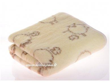 """Vaikiškas merinosų vilnos pledas-antklodėlė """"Avytės"""""""