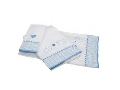 """Vaikiškas rankšluostis """"Paukšteliai"""" (mėlynas, 70x140 cm) 2"""