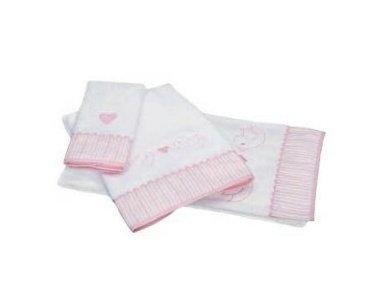 """Vaikiškas rankšluostis """"Paukšteliai"""" (rožinis, 70x140 cm) 2"""