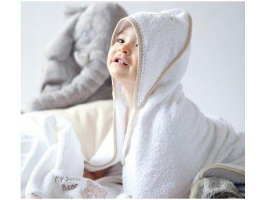 """Vaikiškas rankšluostis su gobtuvu """"Traukinukas"""" 75x75 cm 2"""