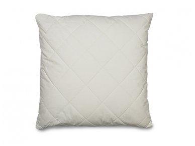 Vienspalvė pagalvė poliesterio užpildu daigstyta su vilna