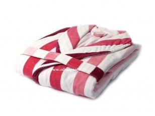 """Vonios chalatas dovanų dėžutėje """"Classic stripes"""" (rožinis)"""